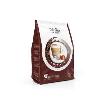 Dolce Vita Coffee Capsules Set Cappuccino 16 Pcs For Dolcegusto ABP0300S