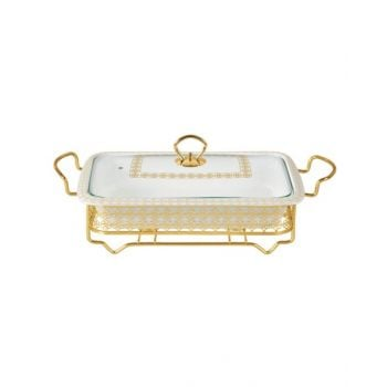 """Blumen Food Warmer Rect. With Candle Stand 14"""" - Bcx2451S1"""