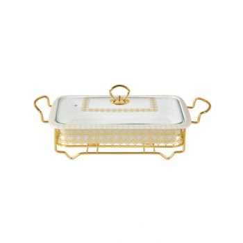 """Blumen Food Warmer Rect. With Candle Stand 16"""" - Bcx2452S1"""