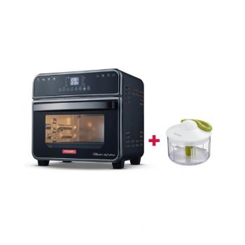 Power MF Air Fryer Master Chef Ultra 15L PMFAF150B and Tefal Manual Chopper 500 Ml Tfk1330404 BUNPMFAF150B