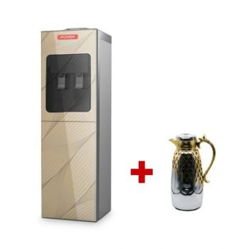 Power Water Dispenser With Cabinet - PBY529 + May Flower Flask 1L  MFKMC1LSG - BUNY5291LSG