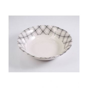 Plaid Black Salad Bowl 24Cm - CLA245043