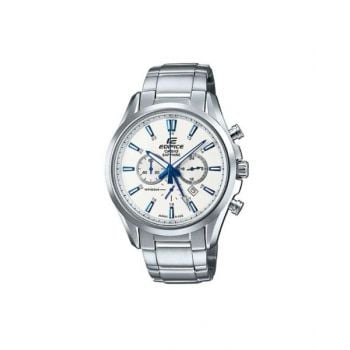 Casio Men's White Dial Stainless Steel Band Watch - EFB-504JD-7ADR