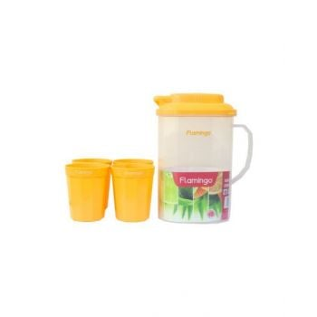 Flamingo Water Jug 1.6 Litre With 4 Cups - Fl5913Wj