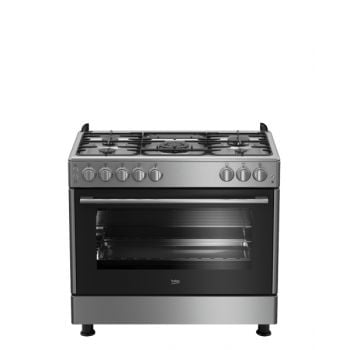 Beko Cooking Range 90 x 60 cm Gas Oven with 4 Gas GG 15125 GX