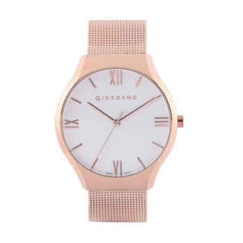 Giordano White Dial Analog Stainless Steel Mens Watch - 1963-44