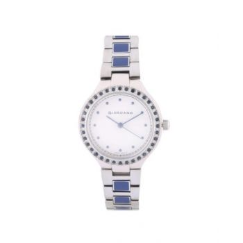 Giordano Silver Dial Analog Womens Stainless Steel Watch - 2976-11