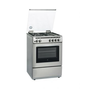 Hoover 60X60 Full Gas Cooker (3+1 Rapid Gas Burners) Steel HVFGC6602S