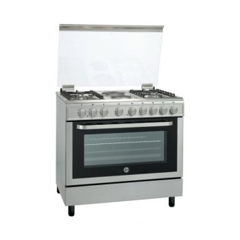 Hoover 90X60 4 Gas + 2 Hot Plate Cooker With Electric Oven HVFGC90603DEX