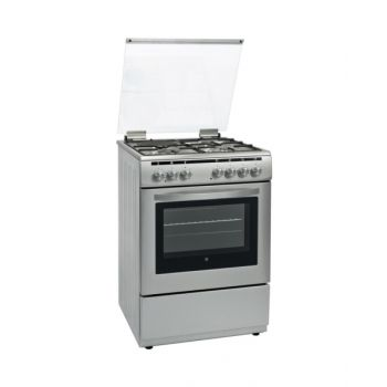Hoover 60X60 3+1 Mixed Burner Cooker With Electric Oven - Silver  HVMGC6000S