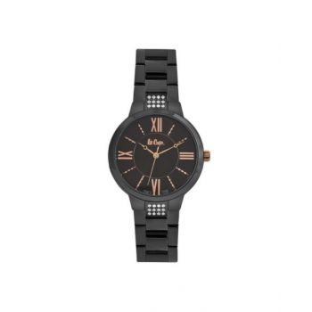 Lee Cooper Black Dial Analog Womens Stainless Steel Watch - Lc06477.650