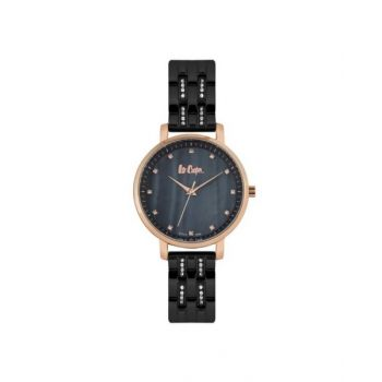 Lee Cooper Black Dial Analog Womens Stainless Steel Watch - Lc06627.450