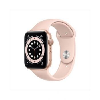 Apple Watch Series 6 GPS 44mm Gold Aluminum Case with Pink Sand Sport Band M00E3