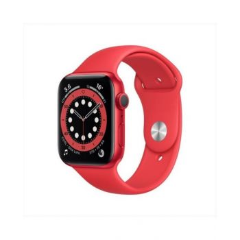 Apple Watch Series 6 GPS 44mm Red Aluminum Case with Red Sport Band M00M3