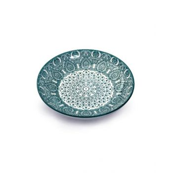 Makaan Che Brucia Soup Plate Green Arabisc 8.25 inch MD03061