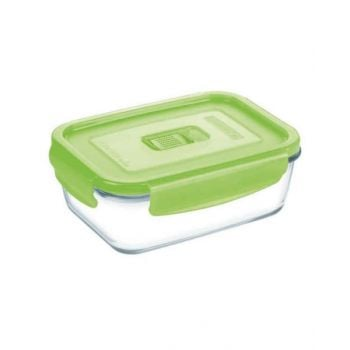 Luminarc Pure Box Active Neon Rectangular Container Green 380 Ml - N0849
