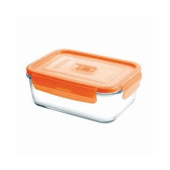 Luminarc Pure Box Active Neon Rectangular Container Orange 380 Ml - N0852