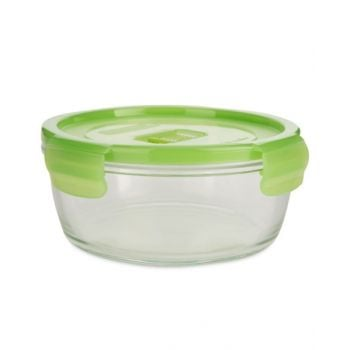 Luminarc Pure Box Active Neon Round Container Green 420 Ml - N0922