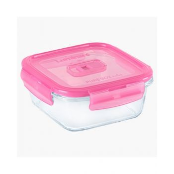 Luminarc Pure Box Active Neon Square Container Pink 380 Ml - N0933