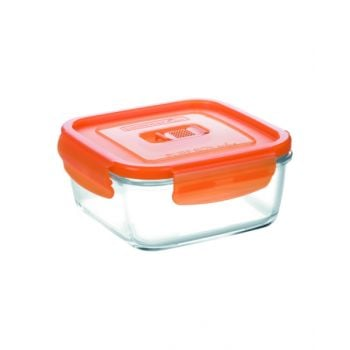 Luminarc Pure Box Active Neon Square Container Orange 380 Ml - N0935