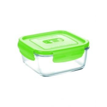 Luminarc Pure Box Active Neon Square Container Green 2500 Ml - N0943