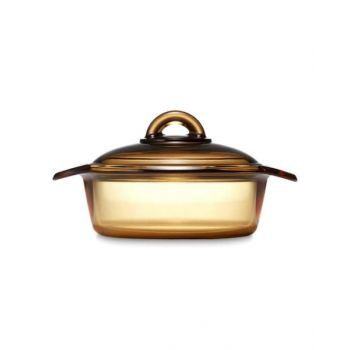 Luminarc Amberline Blooming Round Casserole 2 Litre With Glass Cover - N1607