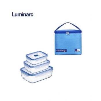 Luminarc Pure Box Active Container Set + Lunch Bag - N6037