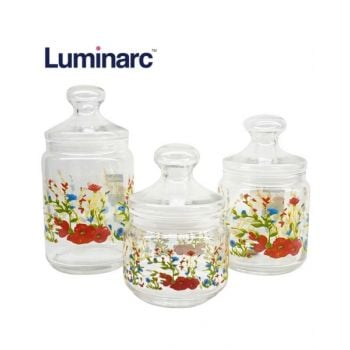 Luminarc Rose Labelle 3 Piece Pot Club - N9661