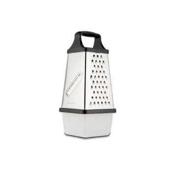 NAVA Stainless Steel Grater Misty With Plastic Storage Bowl 31cm NV1001092