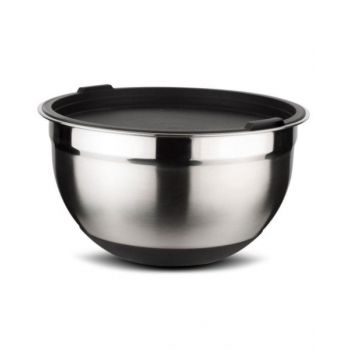 NAVA Acer Stainless Steel Bowl with Plastic Lid 16cm NV1001099