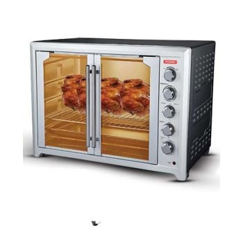 Power Elec Oven 100L With French Door Black PEO1000FDBL