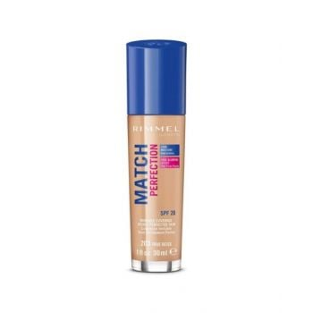 Rimmel London Match Perfection Liquid Foundation, 203 True Beige