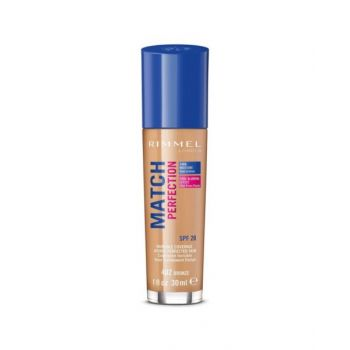 Rimmel London Match Perfection Liquid Foundation, 402 Bronze