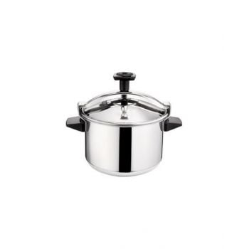 Tefal Stainless Steel Authentique Pressure Cooker 10 Liter, Silver P0531634