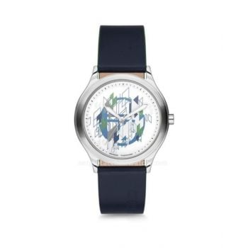 Sergio Tacchini White Dial Analog Womens Leather Strap Watch - St.2.110.03