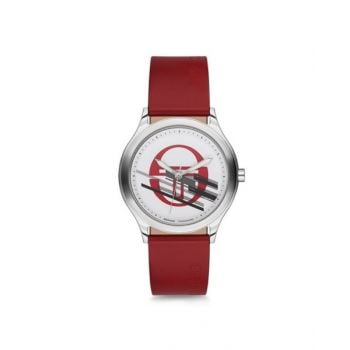 Sergio Tacchini White Dial Analog Womens Leather Strap Watch - St.2.110.06
