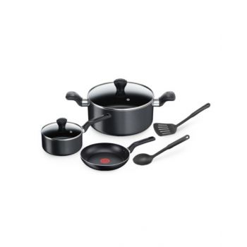 Tefal P&P Super Cook 7 Piece Cookware Set, Tfb143S744