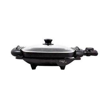 Emjoi 2 in 1 Electrical Grill and Griddle with Glass Lid, Black - UEG-190
