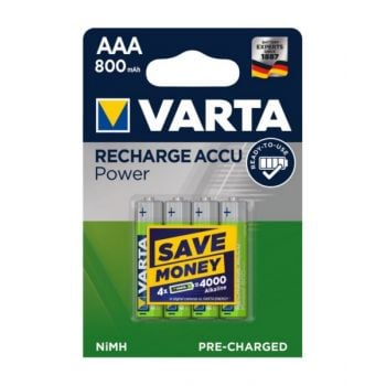 Virta Accu Rechargeable Aaa Battery 800 Mah - Pack Of 4