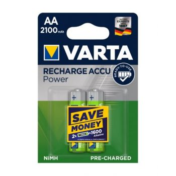 Virta Accu Rechargeable Aa Battery 2100 Mah - Pack Of 2, Va550654