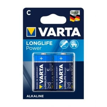 Vartalonglife Power Alkaline C Battery - Pack Of 2, Va559312